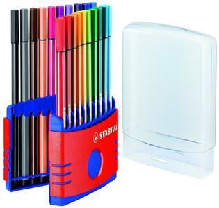 Pennarelli STABILO Pen 68. ColorParade rosso 20 colori