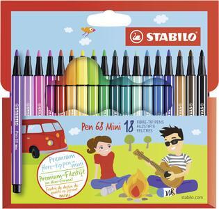 Pennarelli STABILO Pen 68 Mini. Astuccio 18 colori assortiti
