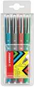 Cartoleria Penna roller Stabilo Worker + Colorful. Astuccio con 4 colori assortiti Stabilo