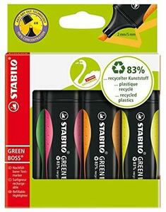 Cartoleria Evidenziatore STABILO GREEN BOSS. Confezione 4 colori Stabilo