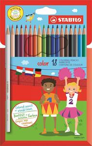 Pastelli STABILO color. Scatola in cartone 18 colori base assortiti - 2