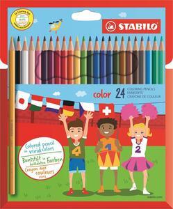 Pastelli STABILO color. Scatola in cartone 24 colori base assortiti