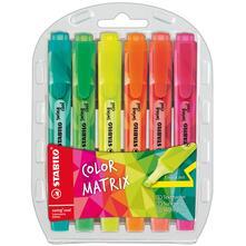 Evidenziatore STABILO Swing Cool Colormatrix Edition. Confezione 6 colori assortiti