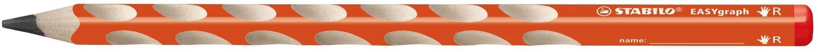 Cartoleria Matita STABILO EASYgraph HB per destrorsi. Arancione Stabilo