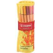 Cartoleria Pennarelli Fineliner Stabilo Point 88. Fan Edition Rollerset con 25 colori assortiti Stabilo