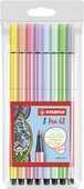 Cartoleria Pennarelli Stabilo Pen 68. Confezione 8 colori pastello assortiti Stabilo