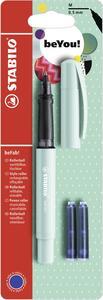 Penna roller STABILO beFab! Pastel Turchese. Con 3 ricariche
