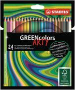 Matita colorata Ecosostenibile STABILO GREENcolors ARTY - Astuccio 24 pastelli colori assortiti
