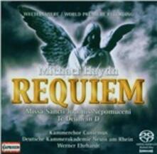 Requiem - Missa S. Joanni - Te Deum - SuperAudio CD ibrido di Johann Michael Haydn