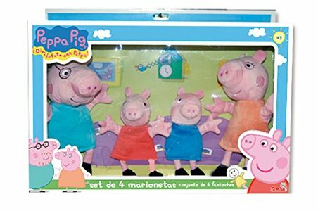 Giocattolo Peppa Pig. Peppa Pig Set 4 Marionette Simba Toys