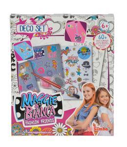Maggia e Bianca. Fashion Friends. Set Sticker, Pennello, Polvere Glitter