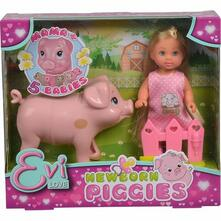 Evi Love Welcome Piggies, inclusa mamma e 5 piccoli maialini