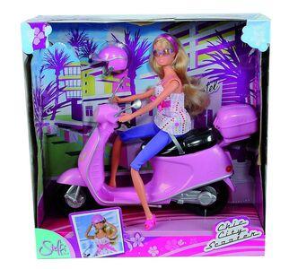 Giocattolo Steffi Love. Steffi Su Scooter Con Bauletto E Casco Simba Toys