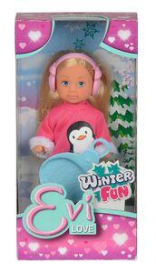 Foto di Evi Love. Divertimento Sulla Neve. Bambolina con Slittino e Paraorecchie, Giochi e giocattoli