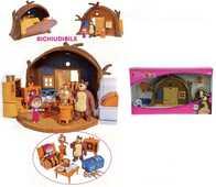 Giocattolo Masha e Orso. Playset Casa Orso Richiudibile con Personaggi Masha e Orso e Accessori Simba Toys