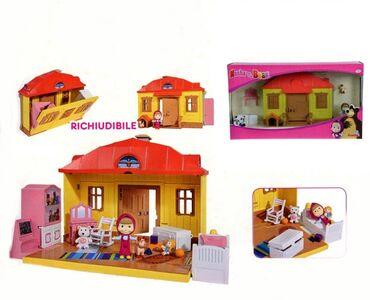 Giocattolo Masha e Orso. Playset Casa Masha Richiudibile con Personaggio Masha e Accessori Simba Toys 0