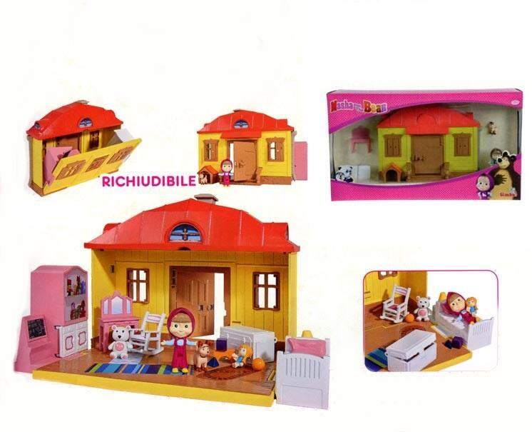 Masha e orso playset casa masha richiudibile con for Masha giocattolo