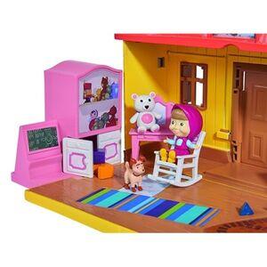 Giocattolo Masha e Orso. Playset Casa Masha Richiudibile con Personaggio Masha e Accessori Simba Toys 2