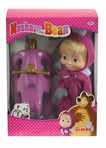 Giocattolo Masha e Orso. Bambola Masha con Slittino Simba Toys 1