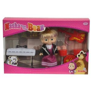 Giocattolo Masha e Orso. Bambola Masha Rock con 3 Strumenti Musicali Simba Toys 0