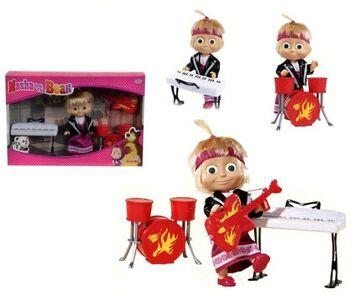 Giocattolo Masha e Orso. Bambola Masha Rock con 3 Strumenti Musicali Simba Toys 1