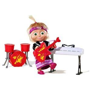 Giocattolo Masha e Orso. Bambola Masha Rock con 3 Strumenti Musicali Simba Toys 2