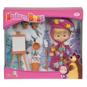 Giocattolo Masha e Orso. Bambola Masha Pittrice con Cavalletto, Tavolozza e Accessori Simba Toys