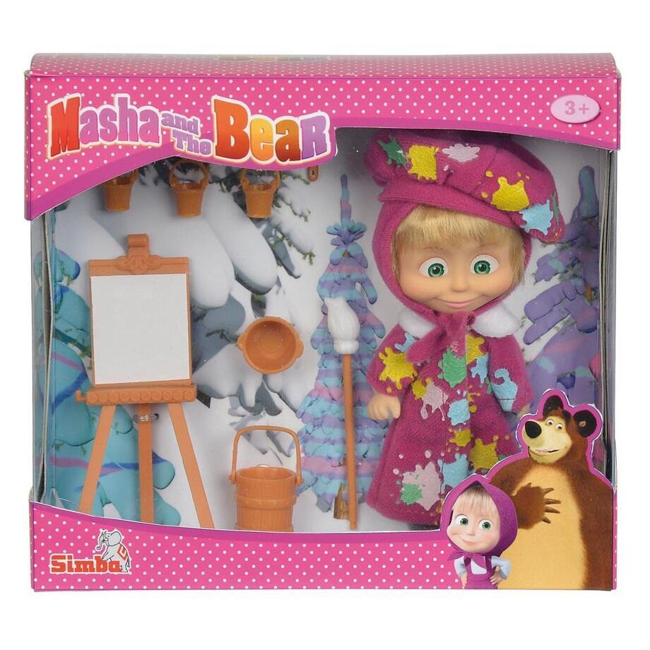 Masha e orso bambola masha pittrice con cavalletto for Masha giocattolo
