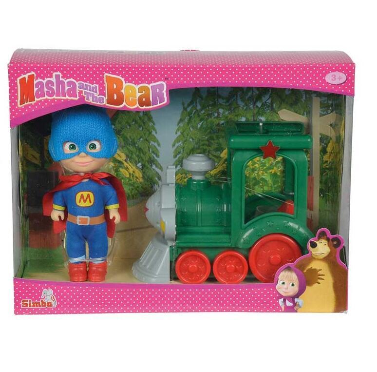 Masha e orso bambola masha 12 cm supereroe con treno for Masha giocattolo