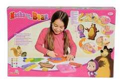 Giocattolo Masha e Orso. Pasta da Modellare. Crea con 7 Vasetti e Accessori Simba Toys
