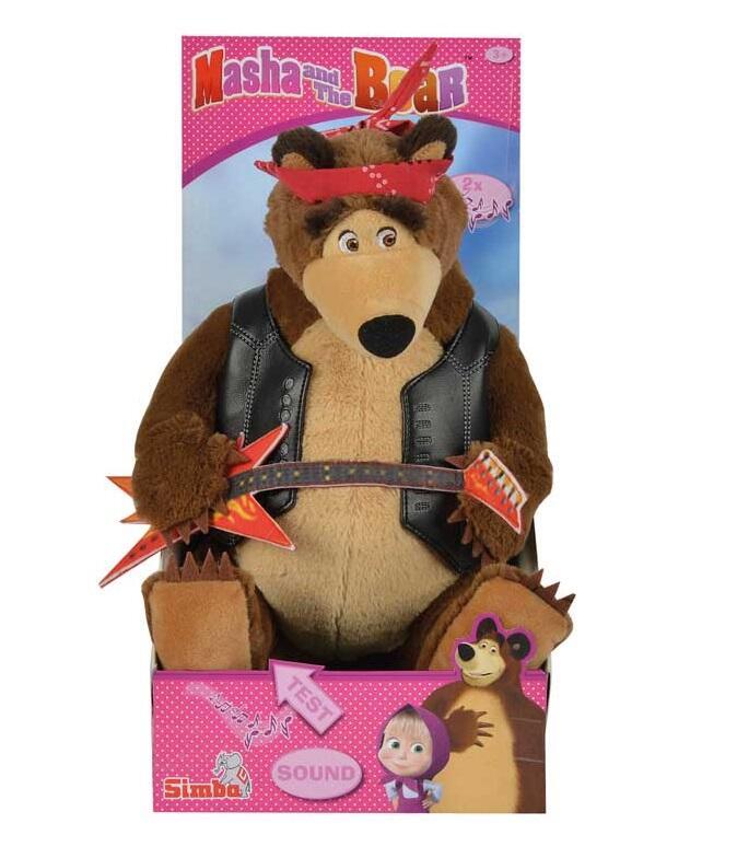 Masha e orso peluche orso rock con suono 30 cm simba for Masha giocattolo