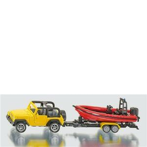 Die Cast Jeep con gommone (1658)