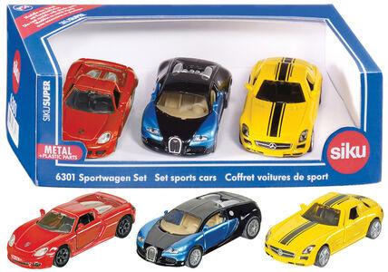 Giocattolo Die Cast Set 3 auto sport (6301) Siku