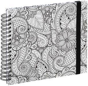 Hama Colorare quaderno per scrivere 50 fogli Nero, Bianco