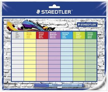 Cartoleria Tabella oraria Staedlter Lumocolor timetable set formato A4 Staedtler