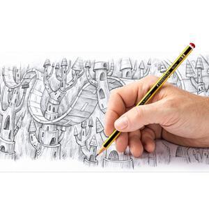 Matita in grafite Staedtler Noris HB. Confezione 3 matite + gomma Mars plastic - 5