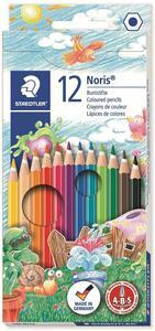 Pastelli Staedtler Noris. Confezione 12 matite colorate assortite