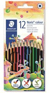 Pastelli Staedtler Noris colour. Confezione 12 matite colorate assortite - 27