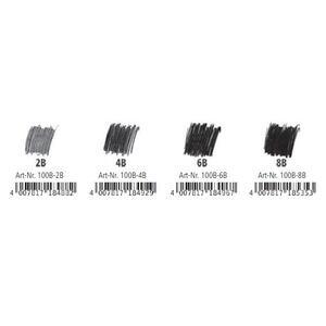 Matita Staedtler Mars Lumograph black. Astuccio in metallo 6 matite in grafite tipo carboncino - 3