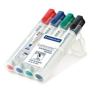 Lavagna Staedtler Lumocolor whiteboard marker. Con 4 marcatori cancellabili colori assortiti - 9