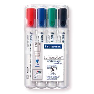 Lavagna Staedtler Lumocolor whiteboard marker. Con 4 marcatori cancellabili colori assortiti - 10