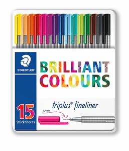 Pennarelli Fineliner Staedtler Brilliant Colours. Confezione 15 colori assortiti - 6