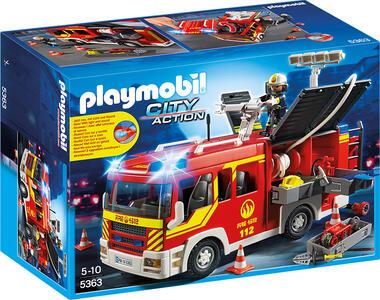 Autopompa dei vigili del fuoco con luci e suoni Playmobil (5363) - 3