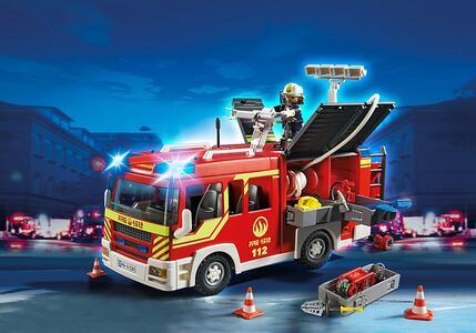 Autopompa dei vigili del fuoco con luci e suoni Playmobil (5363) - 11