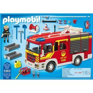 Autopompa dei vigili del fuoco con luci e suoni Playmobil (5363) - 12
