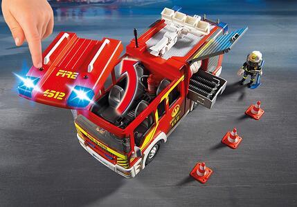 Autopompa dei vigili del fuoco con luci e suoni Playmobil (5363) - 13