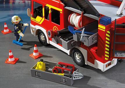 Autopompa dei vigili del fuoco con luci e suoni Playmobil (5363) - 15