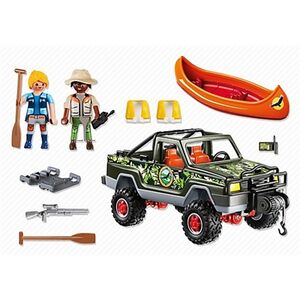 Giocattolo Playmobil Wild Life. Pickup-avventura con canoa (5558) Playmobil 2