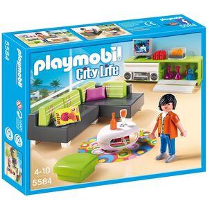 Giocattolo Playmobil. City Life Villa Lussuosa. Salone con Mobili di Design (5584) Playmobil
