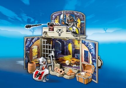 Giocattolo Playmobil Cavalieri Scrigno dei Cavalieri del Lupo (6156) Playmobil 1